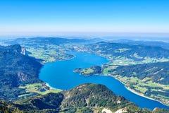 Mondsee-Seeblick von Schafberg Ober?sterreich stockfotos