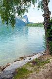 Mondsee  summer lake (Austria). Stock Photo