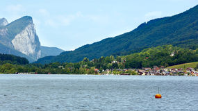 Mondsee  summer lake (Austria). Royalty Free Stock Photo
