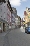 Mondsee town street in Austria. Stock Image