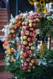 MONDSEE UPPER AUSTRIA /AUSTRIA - SEPTEMBER 15: Äpplen i sänkan royaltyfria foton