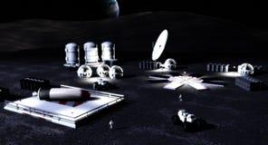 Mondunterseite Lizenzfreies Stockfoto