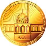 Moneda árabe del dinar del oro del vector ilustración del vector
