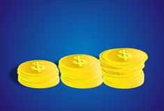 Moneda ilustración del vector