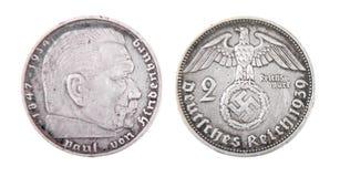 Moneda alemana de los reichs Imágenes de archivo libres de regalías