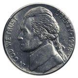 Moneda americana del níquel imagen de archivo libre de regalías