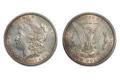 Moneda americana 1883 viejo del dólar Fotografía de archivo libre de regalías