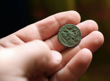 Moneda antigua Imagenes de archivo