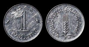 Moneda antigua de 1 céntimo foto de archivo