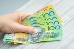 Moneda australiana Fotos de archivo libres de regalías
