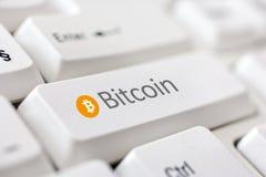 Moneda Bitcoin de Digitaces Fotografía de archivo libre de regalías