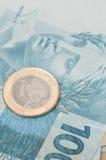 Moneda brasileña - real Foto de archivo