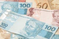 Moneda brasileña (real) Imagen de archivo libre de regalías