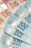 Moneda brasileña - real Imagenes de archivo