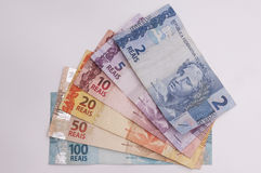 Moneda brasileña (real) Fotos de archivo libres de regalías
