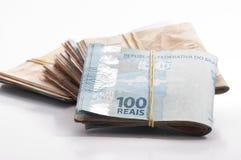 Moneda brasileña (real) Foto de archivo libre de regalías