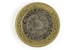 Moneda BRITÁNICA Fotos de archivo