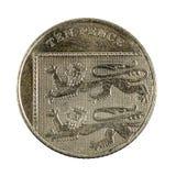 Moneda británica 2008 de diez peniques aislada fotos de archivo libres de regalías