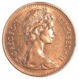 1 moneda británica del pennie Fotos de archivo