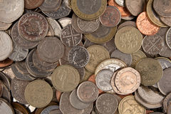 Moneda británica mezclada Foto de archivo libre de regalías