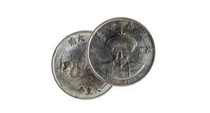 Moneda china muy vieja Foto de archivo libre de regalías