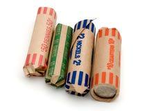 Moneda colorida Rolls Foto de archivo libre de regalías