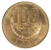 Moneda Costa Rica imagenes de archivo