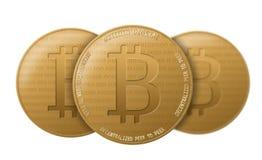 Moneda crypto de Bitcoin Fotografía de archivo