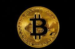 Moneda crypto de Bitcoin Imagen de archivo