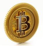 Moneda crypto de oro de la moneda aislada en el fondo blanco ilustración 3D Imagen de archivo libre de regalías