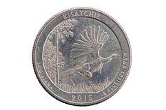 Moneda cuarta conmemorativa de Kisatchie Fotografía de archivo libre de regalías