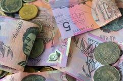 Moneda de Australia - dinero australiano Imagen de archivo