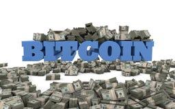 Moneda de BITCOIN Blockchain - inversión y crecimiento Imagen de archivo libre de regalías