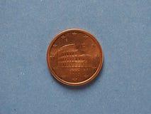 moneda de 5 centavos, unión europea Imagen de archivo