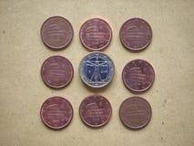 moneda de 5 centavos, unión europea, Italia Imagen de archivo