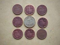 moneda de 5 centavos, unión europea, Italia Foto de archivo libre de regalías