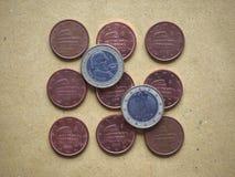 moneda de 5 centavos, unión europea, Italia Fotos de archivo libres de regalías