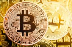 Moneda de cobre de Bitcoin Concepto de Cryptocurrency fotos de archivo
