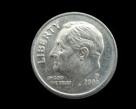 Moneda de diez centavos Foto de archivo