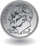 Moneda de diez centavos Fotografía de archivo