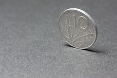 Moneda de diez liras de Italia Fotografía de archivo