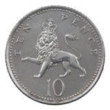 Moneda de diez peniques Fotografía de archivo libre de regalías