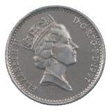 Moneda de diez peniques Fotos de archivo libres de regalías