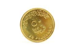 Moneda de Egipto fotografía de archivo