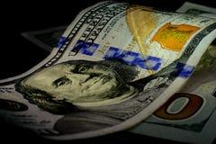 Moneda de Estados Unidos cientos dólares de americano Nuevas cuentas Imágenes de archivo libres de regalías