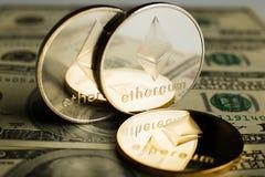 Moneda de Ethereum imágenes de archivo libres de regalías