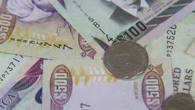 Moneda de Jamaica - concepto de las actividades bancarias y de la estabilidad económica almacen de video