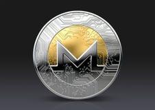 Moneda de la comprobación de Cryptocurrency Fotografía de archivo