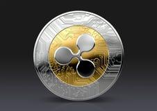 Moneda de la comprobación de Cryptocurrency ilustración del vector
