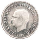 Moneda de la corona Fotografía de archivo